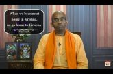 When we become at home in Krishna, we go home to Krishna | Gita 12.08
