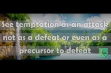 See temptation as an attack, not as a defeat Gita 05.23