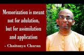 Memorization is meant not for adulation, but for assimilation and application | Gita 06.08