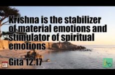Krishna is the stabilizer of material emotions and stimulator of spiritual emotions Gita 12.17